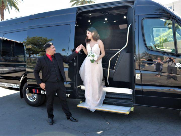 Tmx Couple Exiting Limo 10 6 19 51 1900079 157807286353816 Rancho Cucamonga, CA wedding transportation