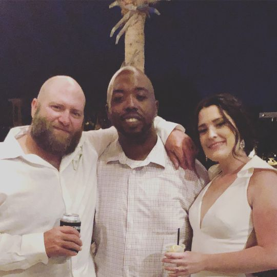 Newlyweds and their DJ!