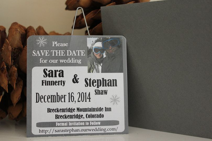Lift Ticket Save the Date