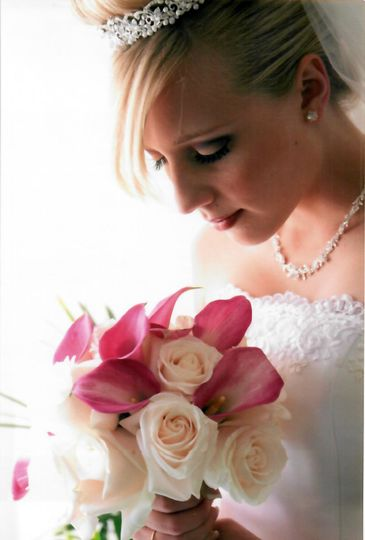 A Bride and her bouquet