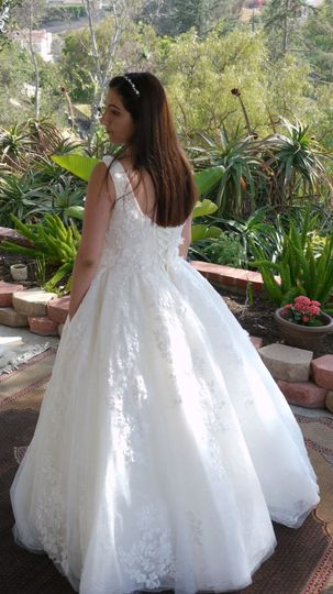 Ball gown style dress
