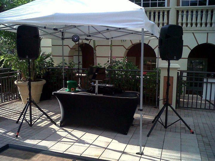 DJ outdoor setup