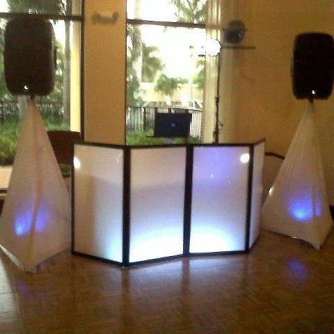 DJ indoor setup