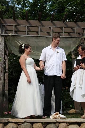 Blessing the new couple.