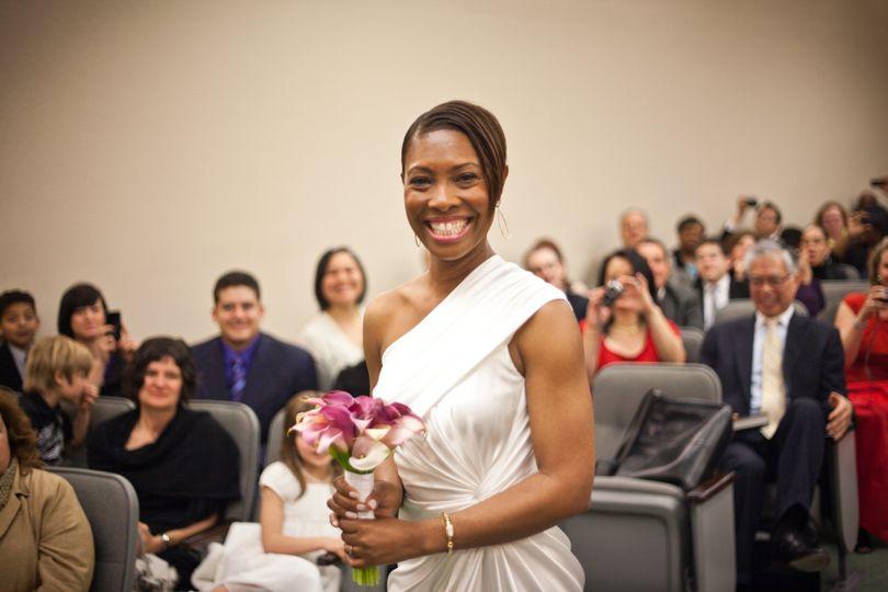 Tammy on her wedding day