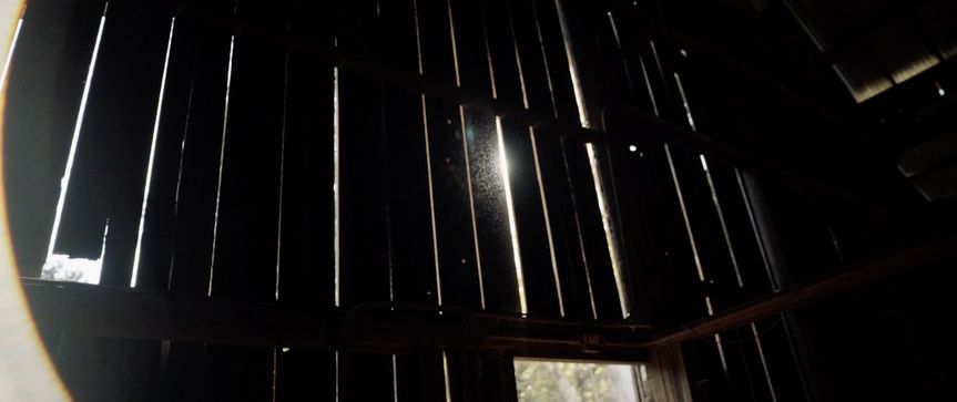Liz + Cham barn light beam