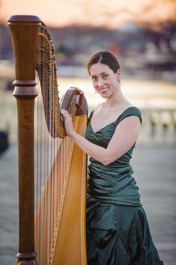 Meghan Kathleen Davis and her harp