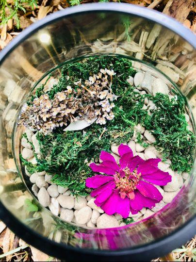 Glass jar flowers
