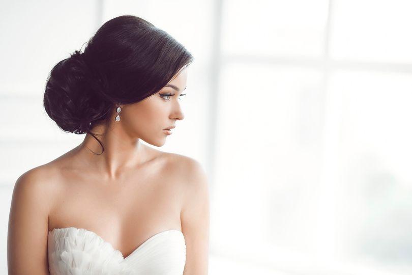 Luxury hair,glowing makeup