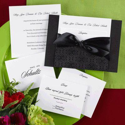 Tmx 1425593194942 Invite Blk Grn Burgandy Johnston wedding invitation