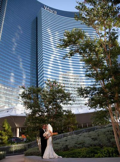 Exterior view of the Vdara Hotel & Spa