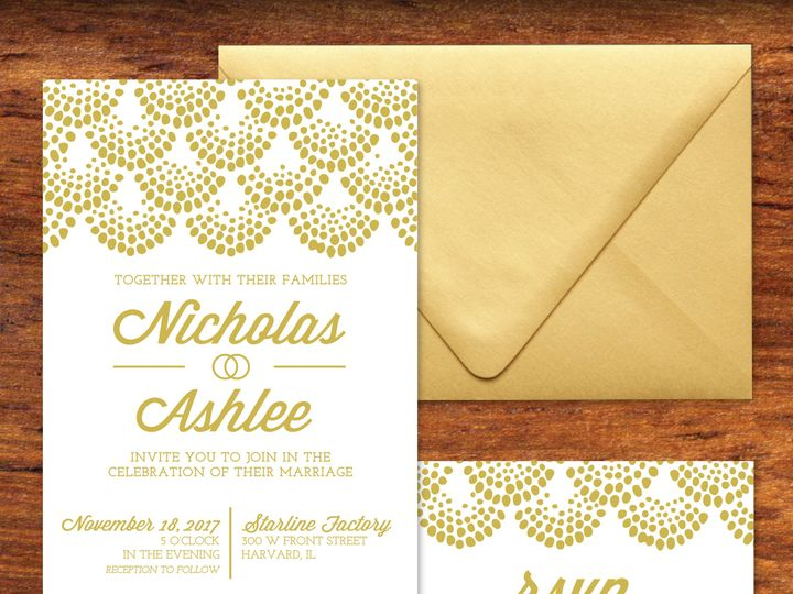 Tmx Nick And Ashlee Invite Suite Mockup 51 1037079 V1 Bartlett, IL wedding invitation