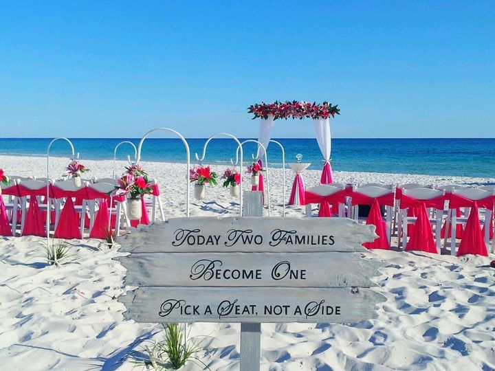 Ask us about signs for the your barefoot wedding, there are several to choose from