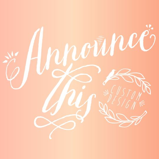 Announce This! Wedding Stationery & Custom Designs