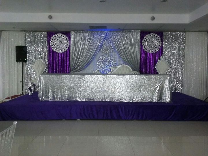 Purple and silver set up