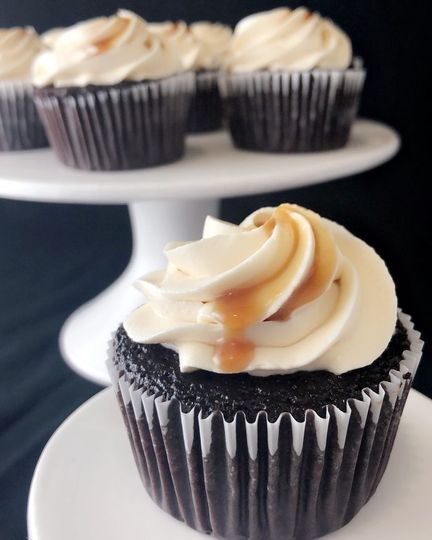 Cognac Caramel Choc Cupcake