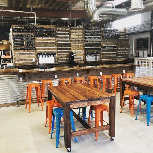 The main taproom space