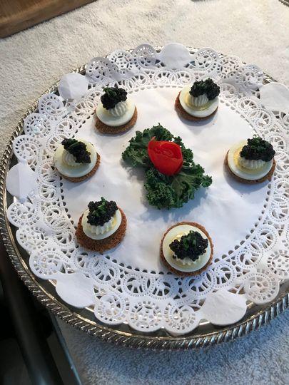 Caviar Canapés