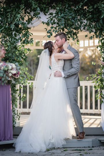 First Kiss for Mr. & Mrs.