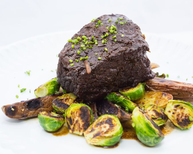 Braised Short Rib & Brussel Sp