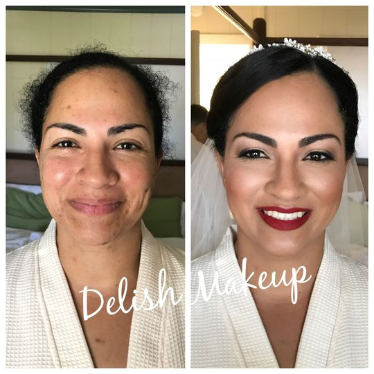 The before and after look