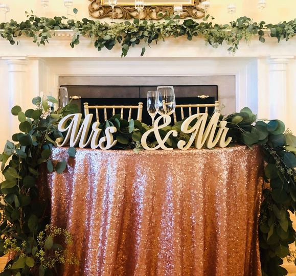 Mrs. & Mr. Table idea