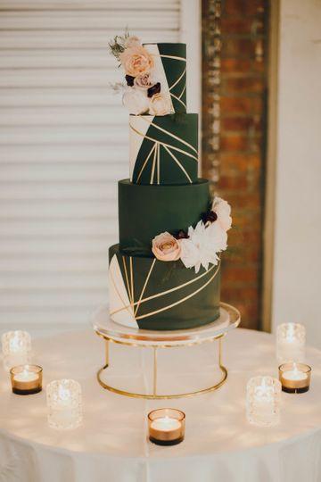Geometric black cake