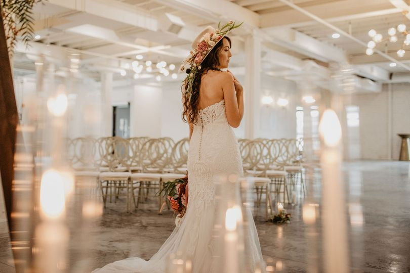 Bride in downstairs hall