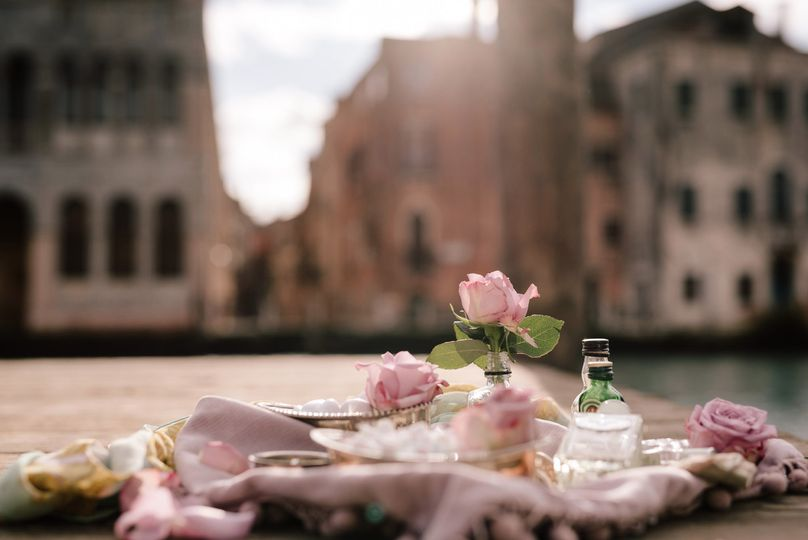 Wedding flowers in Venice