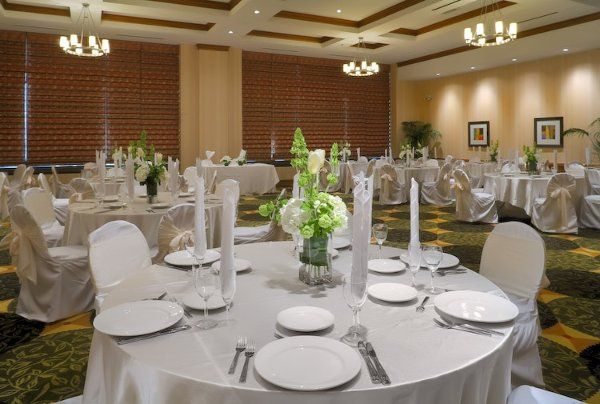 This is how our ballroom can be set up for a wedding, but there are endless possibilities to meet...