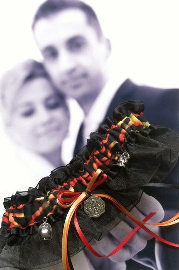 My hero, my firefighter...wedding & toss garters