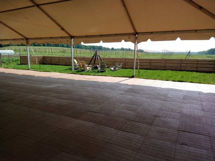Under the tent, view