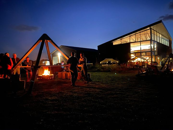 Taproom and fire pit