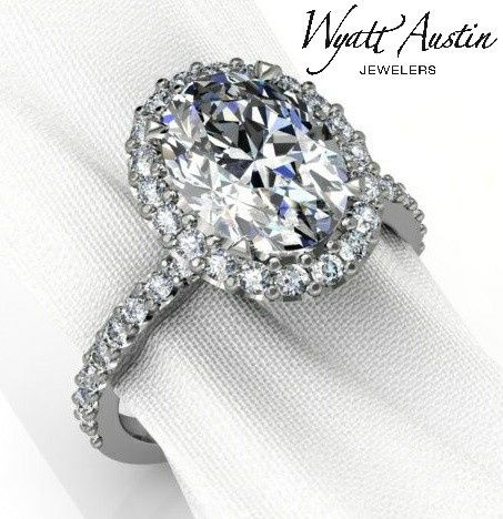 Every halo ring is custom designed to fit the diamond you selected. This can be made for any shape...