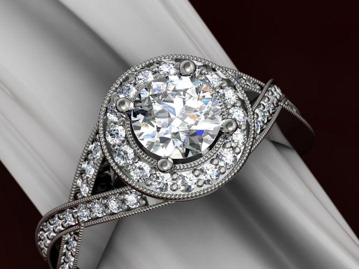 Tmx 1341505243047 HaloRing Schaumburg wedding jewelry