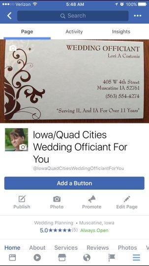 Lori Costonis, Wedding Officiant