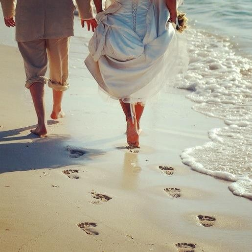 Our Weddingmoon clients Shane & Darlene taking their first steps as husband & wife after marrying in...
