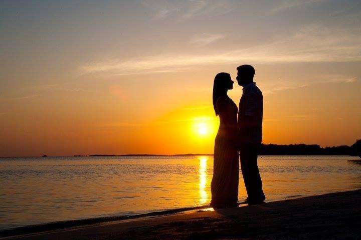 "Our Weddingmoon couple Shane & Darlene enjoying a romantic sunset at a private ""trash the dress""..."