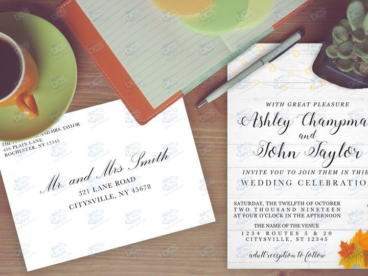 Tmx Addressing Envelope3 51 930279 V1 East Rochester, NY wedding invitation