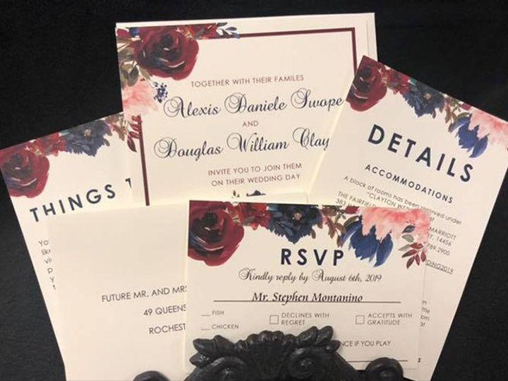 Tmx Invite 1 51 930279 1566566270 East Rochester, NY wedding invitation