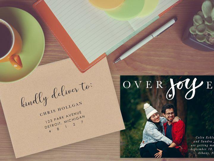 Tmx Orverjoyed Envelope 51 930279 East Rochester, NY wedding invitation