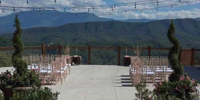 Wedding ceremony overlooking the scenery