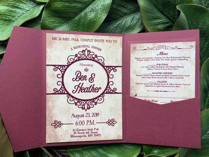 Tmx E9446096 Be8f 4ae6 A709 Fea2cf56b52c 51 1031279 1571004574 Littleton, Colorado wedding invitation