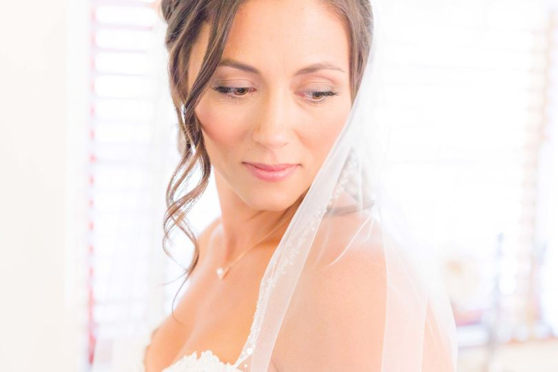 Soft bridal portrait, getting ready for the ceremony!