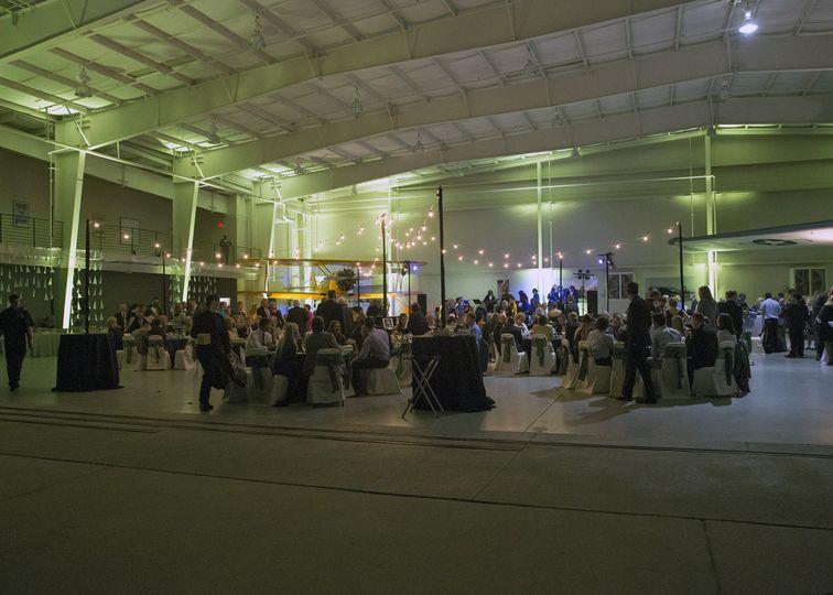 Navy Hangar  wedding guests