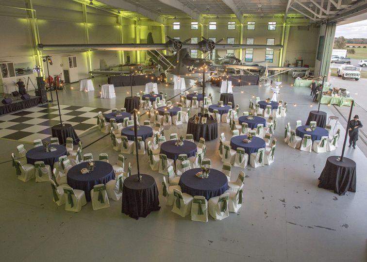 Navy Hangar Reception