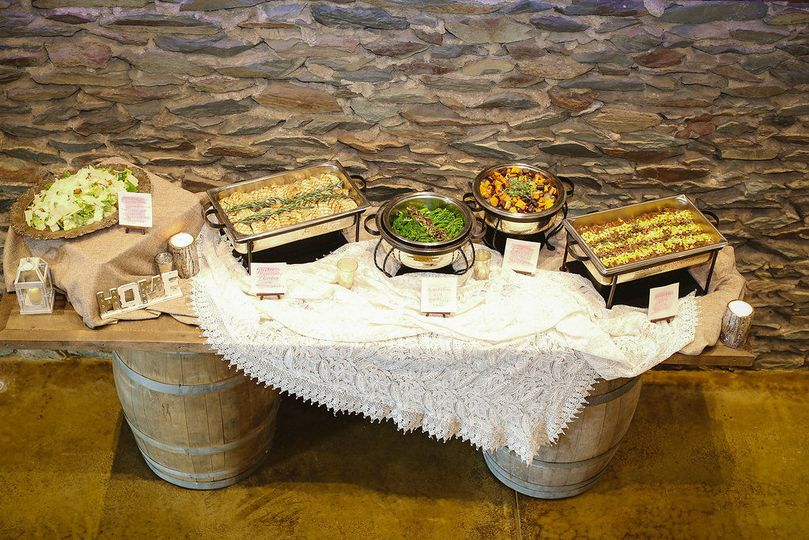 Our wine barrel tables are on wheels - and look great as gift, cake, food or bar service!