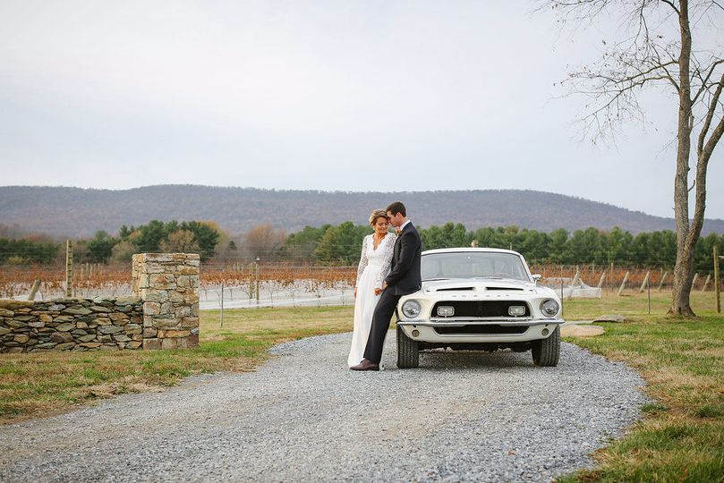 There are a million great views on our property - have fun with your wedding photos!