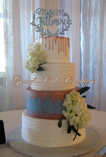 Wedding cake with decors