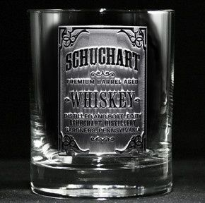 whiskey label engraved bar glass 4 2